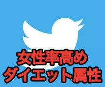 【女性率高】ダイエット属性twitterであなたのHPやブログをツイートします!