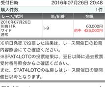 馬券的中率をUP!ヤフオクで60000円の販売実績、お客様の収支プラスの実績あり!!