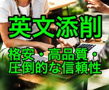 格安で高品質な英文添削・校正いたします 英検1級、実務翻訳4年の経験を活かして丁寧・迅速に添削します