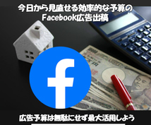 Facebook広告を効果的に即日代理出稿します 出稿目的に効果的な目的選択+ターゲットに対して即日出稿します