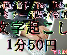 ★動画/音声データ/CD等の文字起こし★You Tube/セミナー/講演/インタビュー/テレビ/会議