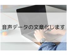 音声データの文章化します 入力代行/手書きのデジタル化も可☆25分以内1000円