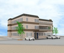 建物外観、撮影用セット、模型を3Dモデリングします 建築士、建築施工管理技士が計画・コーディネートします。