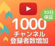 Youtubeチャンネル登録+1000拡散します 30日間の減少保証★追加オプションでさらにお得