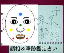 顔相プラス筆跡で運勢鑑定(顔相だけも対応)します。