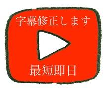 YouTubeの字幕修正します 日⇔英の字幕修正可能です。まずは相談してください。