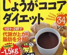生姜ココアダイエット(どういうテーマで書くかはお選びください)の体験記事1000文字書きます