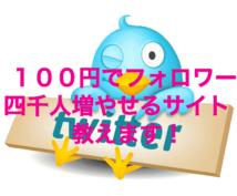 100円でフォロワー4000人増やせるサイト教えます!