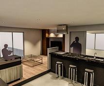 インテリア、建物のイメージパースを作成致します 店舗内装、建築の間取りをイメージ化