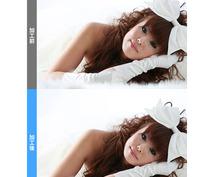 【デカ目・小顔】あなたの写真画像を【2画像】ご希望の顔に画像補正致します!