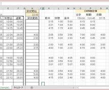EXCELでタイムカードの勤務時間を計算します 期間限定半額★毎月のタイムカードの計算を電卓でしている方へ!