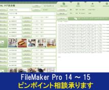 FileMaker Proピンポイント相談承ります FileMakerでの開発に行き詰まった初心者の方へ