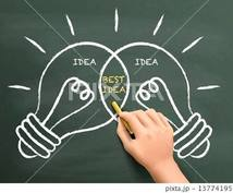 オールジャンルのアイディアを出しまくります 計り知れない発想力でアイディアを出しまくります!