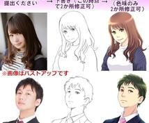 アニメ・コミック風の似顔絵お描きします アイコン、名刺、webサイト、プレゼントなどに
