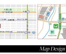 住所だけでOK!オリジナルの地図データ作成します 【カラーで見やすくキレイ】名刺やチラシ、ホームページなど!