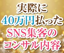 私が40万円払ってわかったSNS集客の内容教えます 実際に高額コンサルに依頼するとどんな内容を教えてくれたのか?