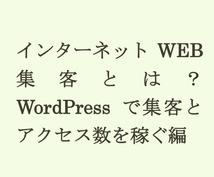 今日からできる!【特別価格】インターネットのアクセス数を向上させるWEB集客の方法を教えます。