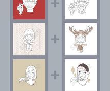 アイコンも冬じたく☃❄2枚セットのアイコン描きます クリスマス、お正月…アイコンも冬らしく変えたいあなたに!