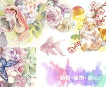水彩でやわらかな優しいイラストを描きます アイコン画像、小説、CDなどにも映えるアナログイラスト!