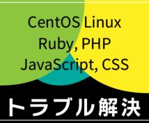 エラー・不具合・動かないを解決サポート致します サーバ Ruby PHP JavaScript CentOS