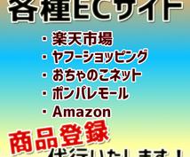 各種ECサイト(ネットショップ)への商品登録代行いたします。