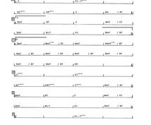 わかりやすい、弾きやすいコード譜の作成