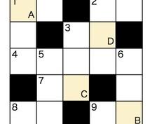 オリジナルクロスワードパズル・5×5サイズ作ります パズルを解いて初めて伝わるメッセージ