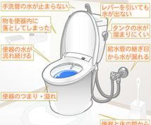 トイレの修理方法、テキスト遠隔サポートします 便利屋さんの遠隔サポート ③トイレの修理(テキスト)