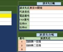 派遣社員の出勤記録を管理します 派遣の出勤記録が簡単に管理できます