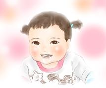 ほわほわな子どものイラスト描きます