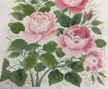 クロスステッチ刺繍キット代行して完成させます。ます 部屋の壁に飾り付けたいけど刺繍は苦手という方に