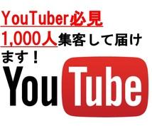 特典付き★Youtubeの視聴回数増やします 1,000人集客。Youtubeの視聴回数UPさせます!