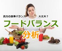 あなたの食生活バランスを分析します 美容と健康のために食事バランスを見える化してみませんか?