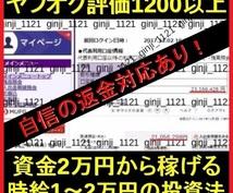資金1~2万円から始められる簡単な投資法を教えます ヤフオクで購入殺到!利益が出た人続出の即実践可能なノウハウ