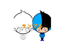 オリジナルキャラクターを描きます SNSや名刺など様々なシーンで利用できると思います!