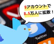 Twitter(9アカ)で8.5万人に宣伝します YouTube動画、イベント情報、ココナラの販売ページの宣伝