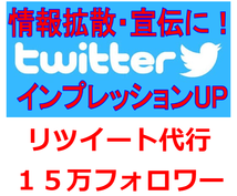 Twitterで情報拡散・宣伝します 情報拡散・宣伝・インプレッションアップにオススメです!!