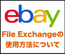 File Exchangeの使用方法をおしえます ebayのもっとも早い出品方法です!