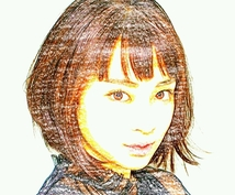 スケッチ風似顔絵お作りします 自分の顔や身近な人の写真を、スケッチ風に仕上げます!