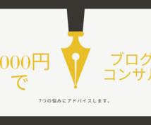 1000円でブログ運営の悩み7つ聞きます 【コンサル】ブログ運営の悩みに7つだけアドバイスします!