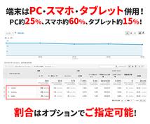 自然検索でアクセスして1UUあたり5分滞在させます 1PV1分閲覧!5日間500UU3,000PV!直帰率8%!
