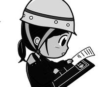 【土建系】イラストかきます!(モノクロ)【ドケジョ】