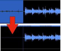 音声データのノイズを軽減処理します!