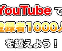 あなたのYouTube動画をサポートします チャンネル登録者数1000人を超える方法を教えます!