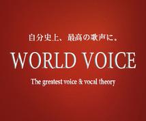 歌や声の悩みを改善します。