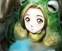 イラスト描きます デジ絵でイラスト描きます。 漫画調、アニメ、写実対応。