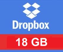 Dropbox容量を18GBまでに増やしますます クラウド容量不足から解放!大容量18GBに