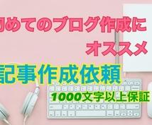 3記事5000円〜質のいい記事を作成します 初心者の方にオススメ!記事作成、他ブログ作成の相談なども可能