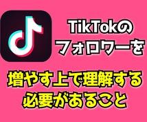 TikTokのノウハウお伝えします Tik Tokを始める上で知っておく必要がある内容です