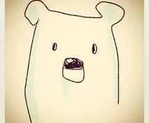 ゆる似顔絵☆(モノクロ)描きます プリントアウトして色を塗るのも楽しいよ☆